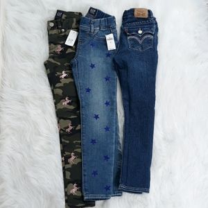 Gap and LEVI'S denim and jeggings size 6 slim